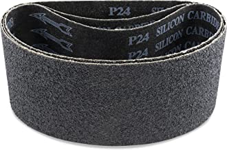 4 X 24 Inch 24 Grit Silicon Carbide Sanding Belts, 3 Pack