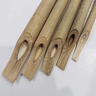 Arabic Calligraphy Bamboo pens - Set of 5 pens - Reed pens qalam for Arabic, Persian, Urdu Calligraphy