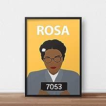 Rosa Parks Poster Print // Wall Art - Portrait - Retro - Colourful - Minimalist - Civil Rights - Black Lives Matter - Inspirational - Dorm Decor