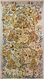 Summer Quince by William Morris | Arts and Crafts Style Woven Tapestry Wall Textile Art | Elaborate Tree Pattern | 100% Cotton USA Size 68x35