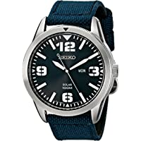 Seiko SNE329 Solar Men's Watch (Blue)