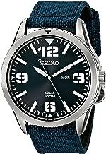 Seiko Men's Blue Dial Blue Nylon Strap Solar Watch