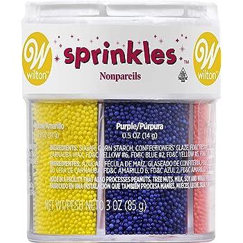 Wilton Nonpareils 6 Mix Sprinkle Assortment Baking Supplies, 1/20-Ounce