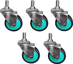 Irkaja Thread Type Heavy Duty 360-Degree Rotatable Wheels for Chair, Trolley, Furniture etc, Multipurpose Use (Set of 5)