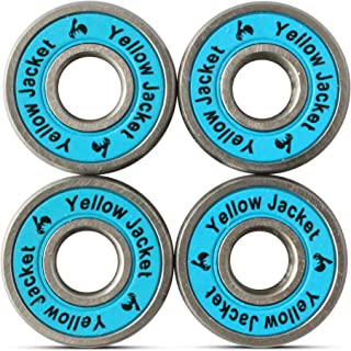 Yellow Jacket Premium Scooter Bearings, Razor Scooters, Kick Scooter, 608, ABEC (Pack of 4)