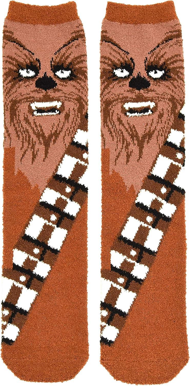 Star Wars Men's Chewbacca Full Character Cosplay Soft Fuzzy Crew Socks