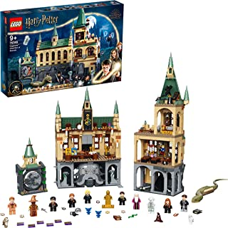 LEGO 76389 Harry Potter Hogwarts Chamber of Secrets Modular Castle Toy with The Great Hall, 20th Anniversary Set with Coll...
