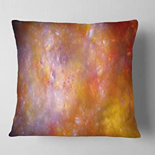 Designart Yellow Starry Fractal Sky' Abstract Throw Living Room, Sofa, Pillow Insert + Cushion Cover Printed On Both Side ...