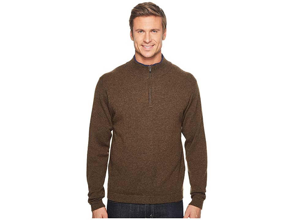 Mountain Khakis Lodge Qtr Zip Sweater (Coffee) Men