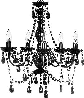 The Original Gypsy Color 5 Light Medium Black Chandelier H21