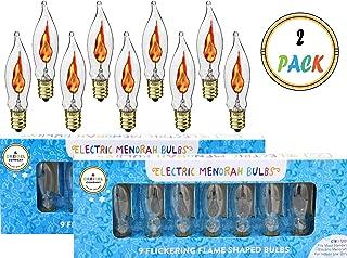 Flickering Flame Shaped Bulbs Hanukkah Menorah Replacement Bulbs (2 Pack)