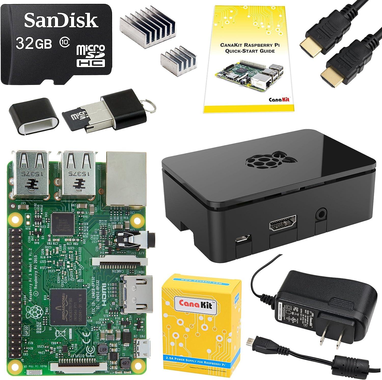 CanaKit Raspberry Pi 3 Complete Starter Kit - 32 GB...