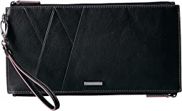 Mill Valley Under Lock & Key Kai Double Zip Pouch with Wristlet