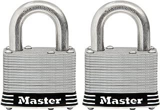 Master Lock Padlock, Laminated Stainless Steel Lock, 2 in. Wide, 5SST (Pack of 2-Keyed Alike)