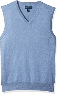 Amazon Brand - BUTTONED DOWN Men's Supima Cotton Lightweight Sweater Vest