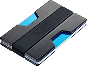 ROCO MINIMALIST Aluminum Slim Wallet RFID BLOCKING Money Clip – No.2