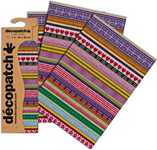 Décopatch C612O Knitting Paper, 30x40 cm (Pack of 3 sheets)