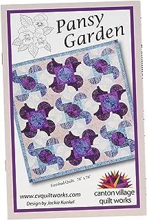 Canton Village Quilt Works CVQW025 Pansy Garden Pattern None