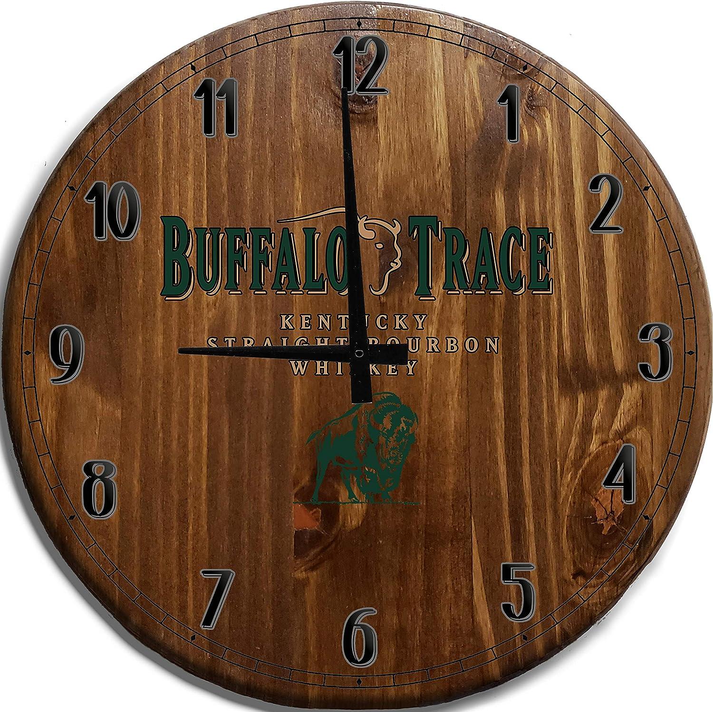 Moon Inc Large Wall Clock Bourbon Popular overseas specialty shop Whiskey Trace Buffalo Kentucky