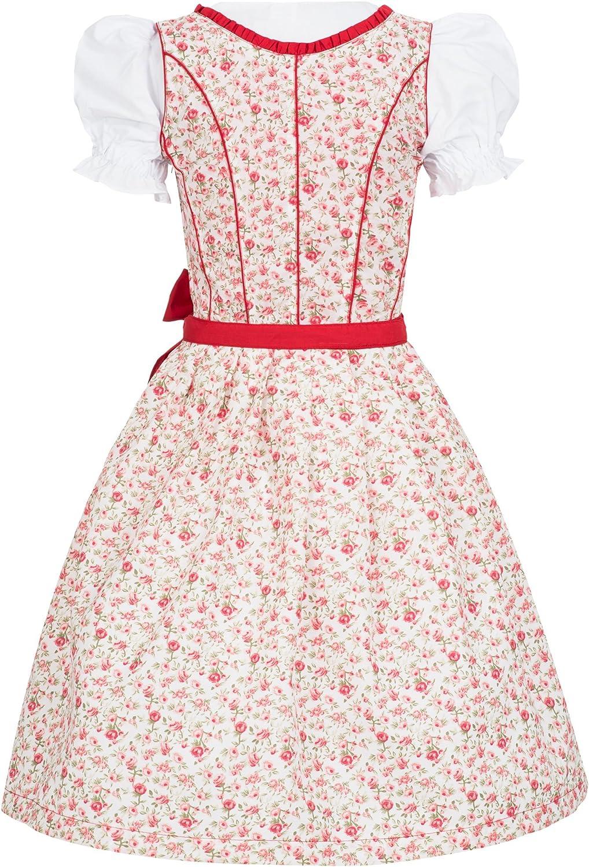 Sch/ürze rot Trachtenkleid Millie m Marke Dirndlkette Gaudi-Leathers Dirndl Set 4 tlg