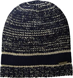 Marl Metallic Striped Beanie