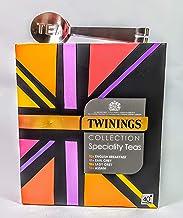 Twinings Union Jack Classic Black Teas Collection. 40 bolsitas de té con exprimidor de bolsas de té de acero inoxidable. Regalo perfecto.