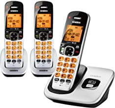 D1760-3 DECT 6.0 Expandable Cordless Phone with Caller ID, Silver, 3 Handsets