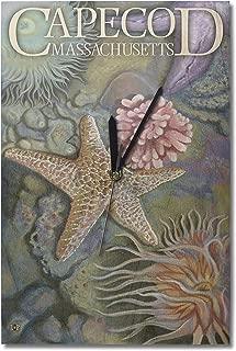 Lantern Press Cape Cod, Massachusetts - Tidepool (10x15 Wood Wall Clock, Decor Ready to Hang)