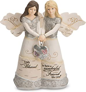 """Pavilion Gift Company 82417 Elements Angels - Truly Blessed To Have A Wonderful Friend Like You 5"""" Double Angel Figurine"""