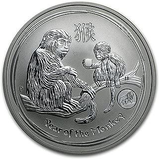 2016 AU Australia 1 oz Silver Lunar Monkey (SII, Lion Privy) 1 OZ Brilliant Uncirculated