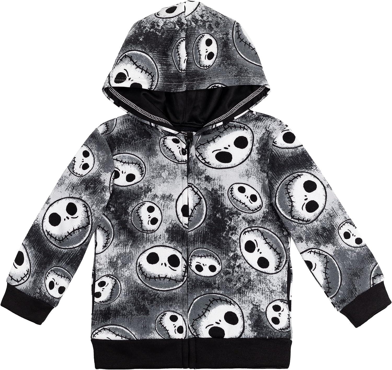 Disney Nightmare Before Christmas Fleece Zip-Up Hoodie: Clothing, Shoes & Jewelry
