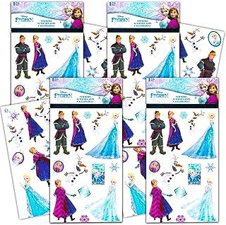 Disney Frozen Sticker Book Frozen Party Supplies Bundle - Includes 100 Disney Frozen Stickers for Walls, Water Bottles, Ro...