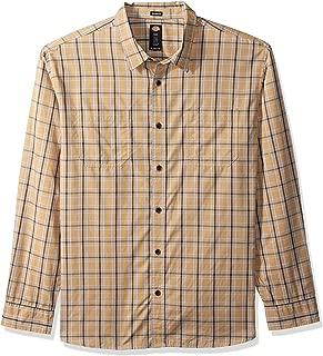 Men's Long Sleeve Relaxed Fit Yarn Dye Plaid Shirt