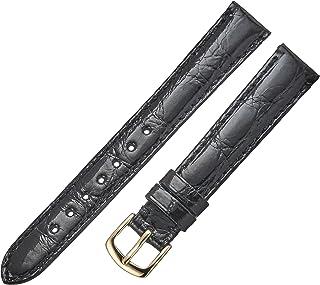 Hadley-Roma Women`s LS2001RA-120 12-mm Black Genuine Caiman Crocodile Leather WatchStrap
