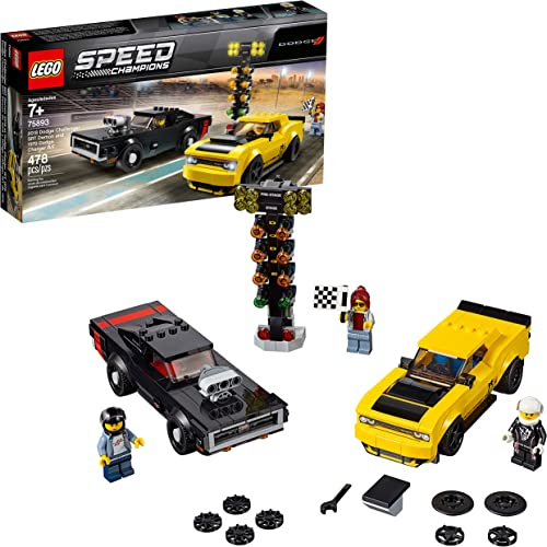 2021 LEGO Speed Champions 2018 Dodge Challenger SRT Demon sale and 1970 Dodge Charger R/T 75893 Building Kit outlet online sale (478 Pieces) sale