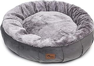Superior Pet Goods Harley Faux Rabbit Fur and Velvet Dog Bed, Grey, Jumbo