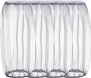 4 Pack Head Net Face Netting Neck Cover Netting Mesh Net for Outdoor Activity (Regular Size, Grey)