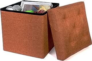 Folding Cube Storage Ottoman with Padded Seat, 15