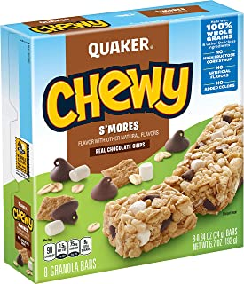 Quaker S'Mores Granola Bars, 8 ct, .84 oz each