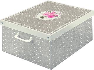 Kanguru Collection Home Storage Box in Card Board, 50x39x24 cm, Taupe