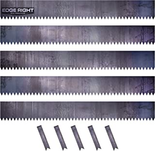 Edge Right - Hammer-in Landscape Edging - 48 inch Strips - 16-Gauge Cor-Ten Steel - 6 inch Depth (5 Pack)
