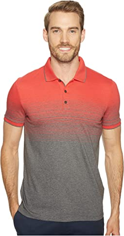 Calvin Klein - Liquid Jersey Two-Tone Ombre Polo