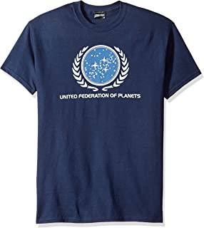 Star Trek United Federation Logo Enterprise SciFi TV Navy Blue Adult T-Shirt Tee