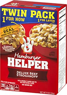 Betty Crocker Dry Meals Hamburger Helper Deluxe Beef Stroganoff Twin Pack, 11 Ounce