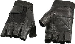 دستکش چرم مشکی میلواکی مدل SH217 و دستکش بدون انگشت مش
