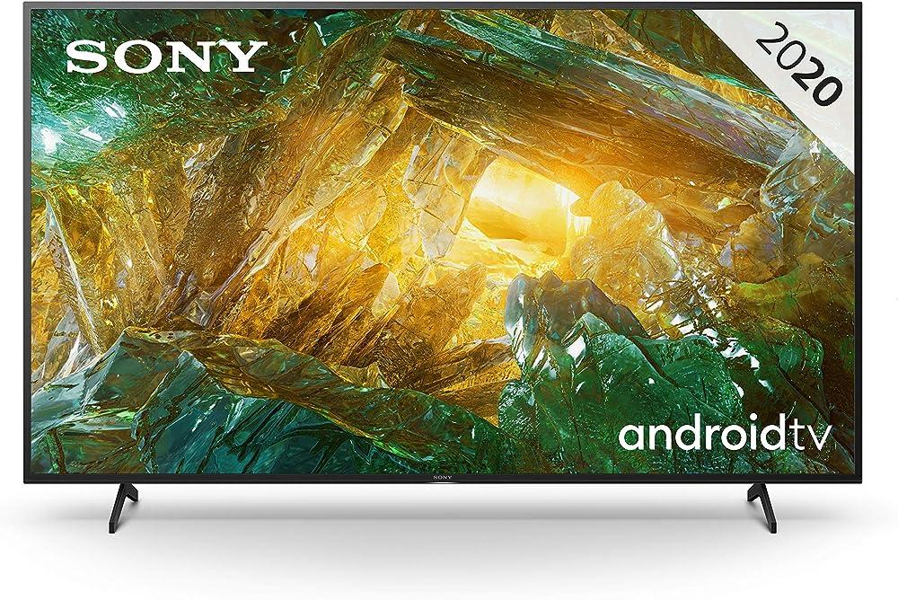 Sony, android tv 65 pollici, smart tv 4k hdr led ultra hd, con assistenti vocali integrati KD65XH8096PBAEP