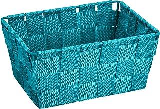 WENKO Adria długi kosz łazienkowy z polipropylenu, benzynowy niebieski, 14 x 19 x 9 cm