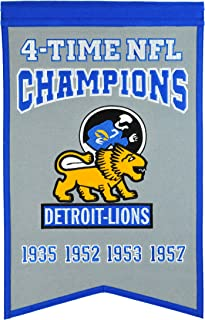 NFL Detroit Lions Champions Banner