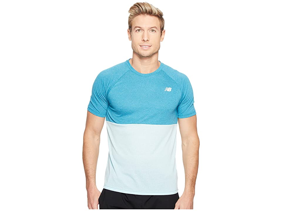 New Balance CBK Breather Short Sleeve (Deep Ozone Blue Heather/Ozone Blue Glow) Men