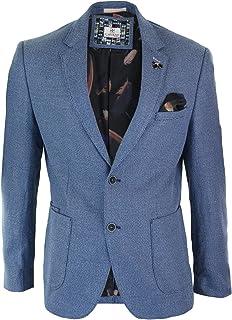 Cavani Mens Smart Casual Blue Waistcoat Blazer Sold Seperately Tailored Fit Formal
